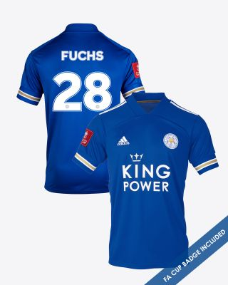 Christian Fuchs - Leicester City King Power Home Shirt 2020/21 - FA CUP