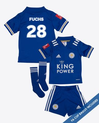 Christian Fuchs - Leicester City King Power Home Shirt 2020/21- Mini Kit FA CUP