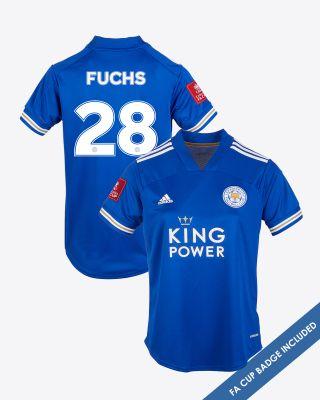 Christian Fuchs - Leicester City King Power Home Shirt 2020/21 - Womens FA CUP