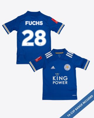 Christian Fuchs - Leicester City King Power Home Shirt 2020/21 - Kids FA CUP