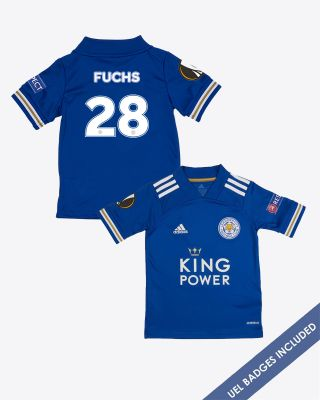 Christian Fuchs - Leicester City King Power Home Shirt 2020/21 - Kids UEL