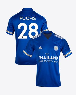 Christian Fuchs - Leicester City TSWY Home Shirt 2020/21 - Kids