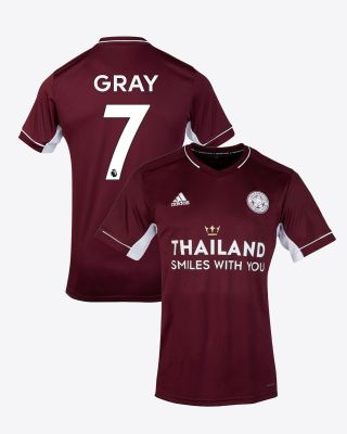 Demarai Gray - Leicester City Maroon Away Shirt 2020/21 - Kids