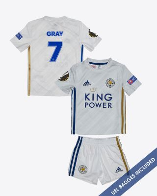 Demarai Gray - Leicester City Away Shirt 2020/21 - Mini Kit UEL