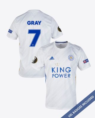 Demarai Gray - Leicester City White Away Shirt 2020/21 - UEL