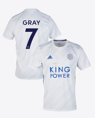 Demarai Gray - Leicester City White Away Shirt 2020/21