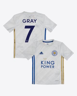 Demarai Gray - Leicester City White Away Shirt 2020/21 - Kids