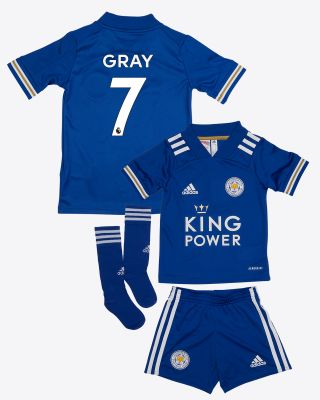 Demarai Gray - Leicester City King Power Home Shirt 2020/21 - Mini Kit