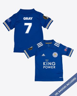 Demarai Gray - Leicester City King Power Home Shirt 2020/21 - Kids UEL