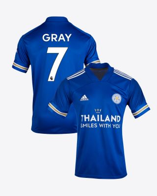 Demarai Gray - Leicester City TSWY Home Shirt 2020/21