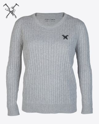 Fox & Crop Womens Grey Jumper