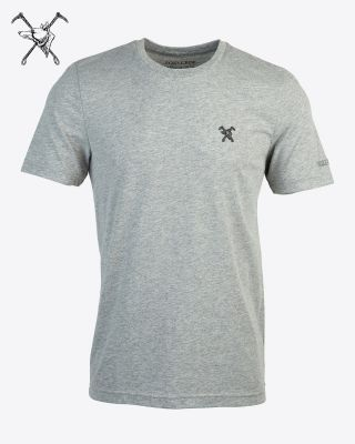Fox & Crop Mens Grey T-Shirt