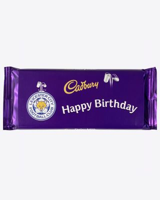 Leicester City 110g Birthday Cadbury Bar