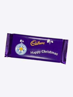 Leicester City 110g Christmas Cadbury Bar