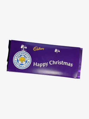 Leicester City 360g Christmas Cadbury Bar