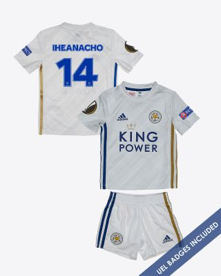 Kelechi Iheanacho - Leicester City Away Shirt 2020/21 - Mini Kit UEL