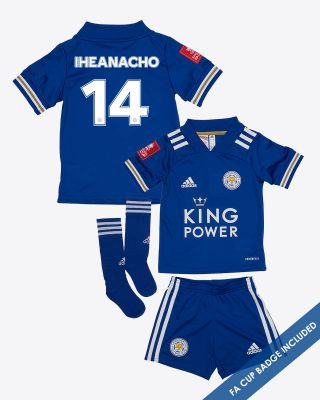 Kelechi Iheanacho - Leicester City King Power Home Shirt 2020/21- Mini Kit FA CUP