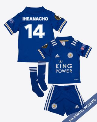 Kelechi Iheanacho - Leicester City King Power Home Shirt 2020/21 - Mini Kit UEL