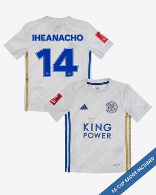Kelechi Iheanacho - Leicester City Away Shirt 2020/21 - Kids FA CUP