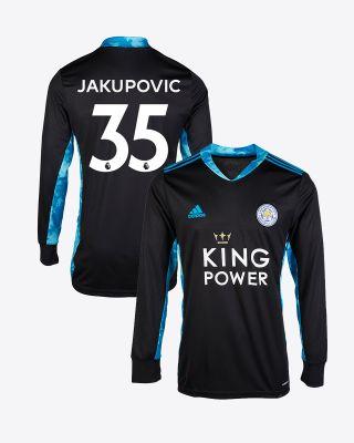 Eldin Jakupovic - Leicester City King Power L/S Goalkeeper Shirt Black 2020/21