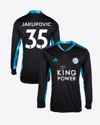 Eldin Jakupovic - Leicester City King Power Goalkeeper Shirt Black 2020/21 - Kids