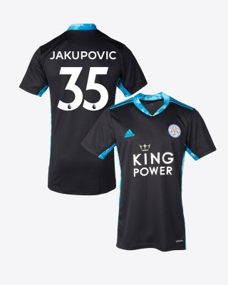 Eldin Jakupovic - Leicester City King Power S/S Goalkeeper Shirt Black 2020/21