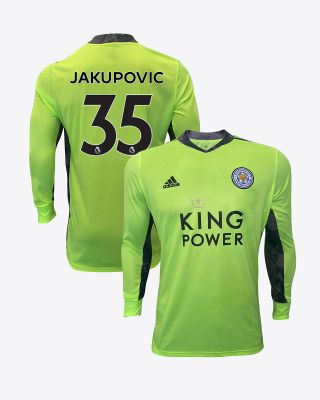 Eldin Jakupovic - Leicester City King Power Goalkeeper Shirt Green 2020/21 - Kids