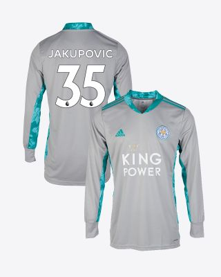 Eldin Jakupovic - Leicester City King Power Goalkeeper Shirt Grey 2020/21 - Kids