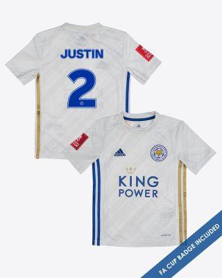 James Justin - Leicester City Away Shirt 2020/21 - Kids FA CUP