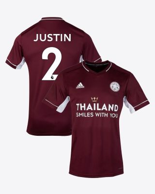 James Justin - Leicester City Maroon Away Shirt 2020/21 - Kids