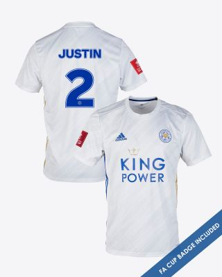 James Justin - Leicester City White Away Shirt 2020/21 - FA CUP