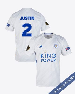 James Justin - Leicester City White Away Shirt 2020/21 - UEL