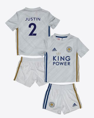 James Justin - Leicester City White Away Shirt 2020/21 - Mini Kit