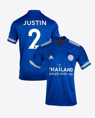 James Justin - Leicester City TSWY Home Shirt 2020/21 - Kids