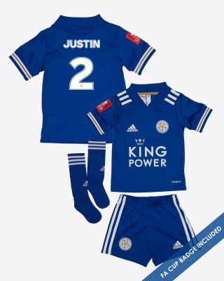 James Justin - Leicester City King Power Home Shirt 2020/21- Mini Kit FA CUP