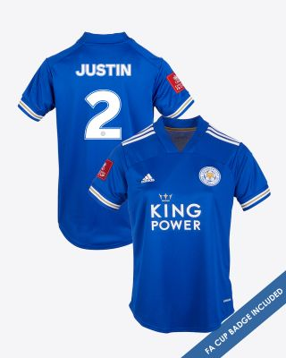 James Justin - Leicester City King Power Home Shirt 2020/21 - Womens FA CUP