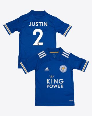 James Justin - Leicester City King Power Home Shirt 2020/21 - Kids