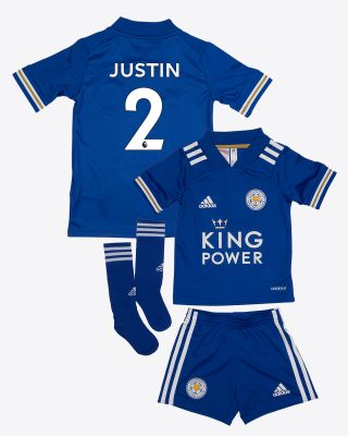 James Justin - Leicester City King Power Home Shirt 2020/21 - Mini Kit
