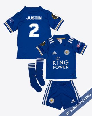 James Justin - Leicester City King Power Home Shirt 2020/21 - Mini Kit UEL