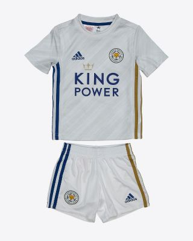 Kelechi Iheanacho - Leicester City White Away Shirt 2020/21 - Mini Kit