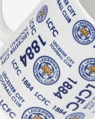 Leicester City Multi Text & Crest Mug