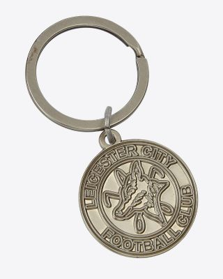 Leicester City 1973 Round Crest Keyring