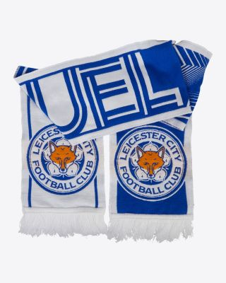 Leicester City UEL Royal/White Scarf 2021/22