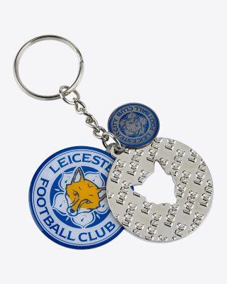 Leicester City 3 Charm Keyring