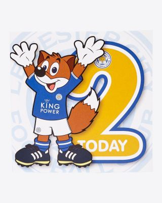 Leicester City Greetings Card - Assorted Designs - AGE 2 - FILBERT