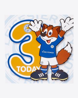 Leicester City Greetings Card - Assorted Designs - AGE 3 - FILBERT