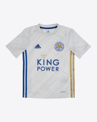 James Justin - Leicester City White Away Shirt 2020/21 - Kids