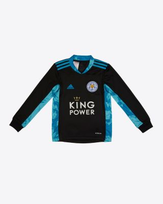 Danny Ward - Leicester City King Power Goalkeeper Shirt Black 2020/21 - Kids