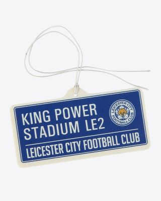 Leicester City Street Sign Car Air Freshener