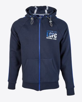 Leicester City Mens Navy Leisure Hoody
